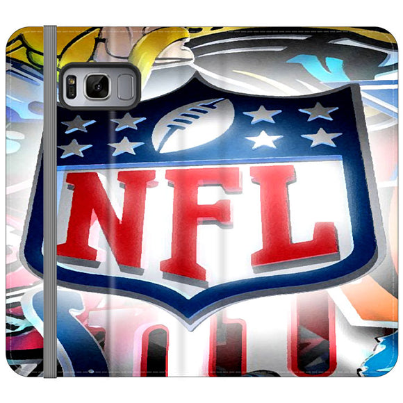 National Football League Art Drawing Samsung Galaxy S8 Plus Flip Case | Frostedcase