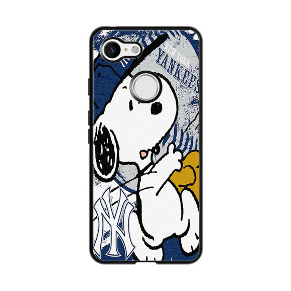 New York Yankees Snoopy Google Pixel 3 XL Case | Frostedcase