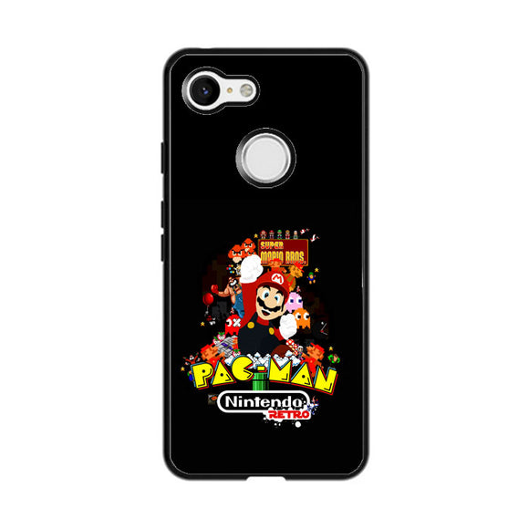 Nintendo Retro Character Games 90S Google Pixel 3 Case | Frostedcase