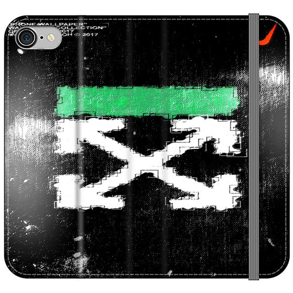 Off White Ice Glass Green iPhone 8 Flip Case | Frostedcase