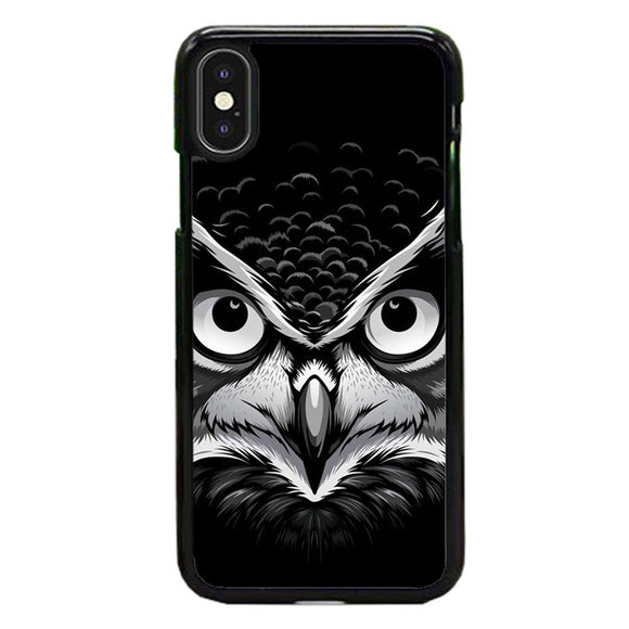Owl Black iPhone XS Case | Frostedcase