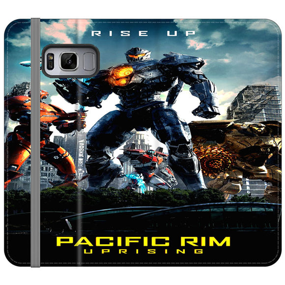Pacific Rim Uprising 2018 Movie Poster Samsung Galaxy S8 Flip Case | Frostedcase