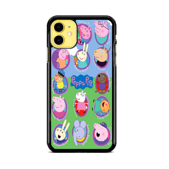 Peppa Pig All Character iPhone 11 Case | Frostedcase