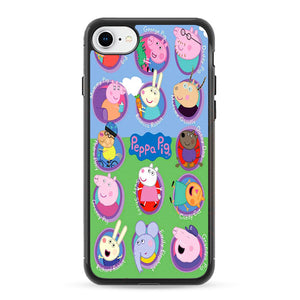 Peppa Pig All Character iPhone 8 Case | Frostedcase