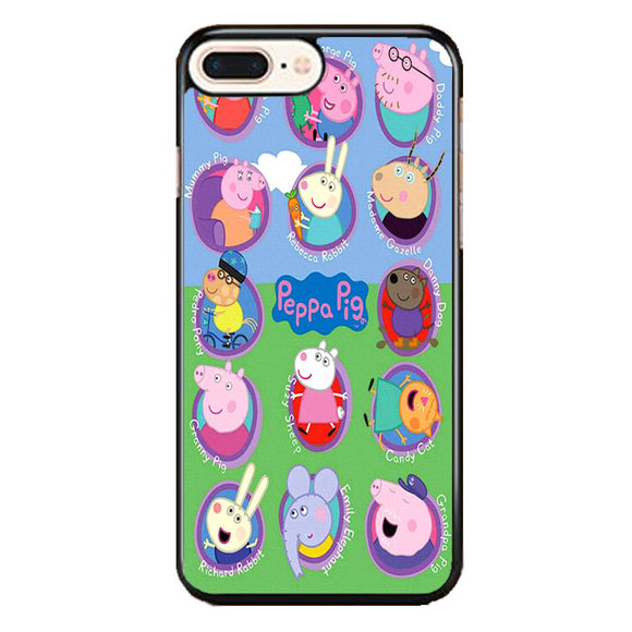 Peppa Pig All Character iPhone 7 Plus Case | Frostedcase