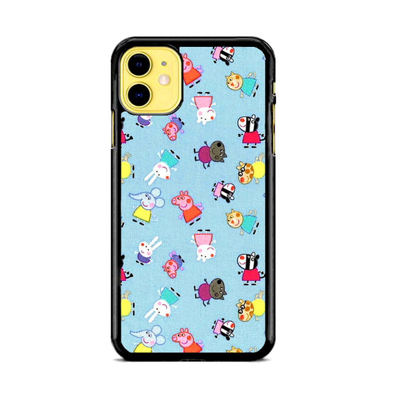 Peppa Pig Blue Character Doodle iPhone 11 Case | Frostedcase