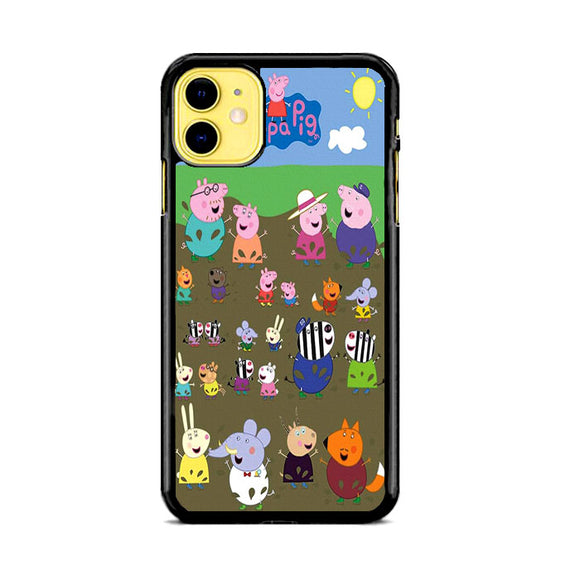 Peppa Pig Character In The Rice Field iPhone 11 Case | Frostedcase
