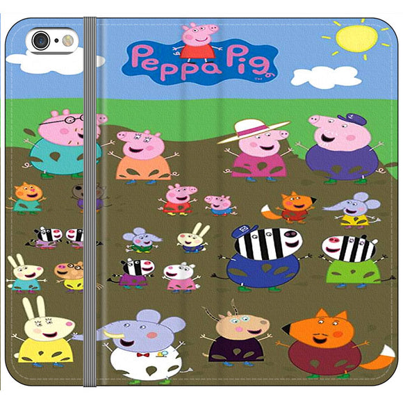 Peppa Pig Character In The Rice Field iPhone 6 Plus|6S Plus Flip Case | Frostedcase