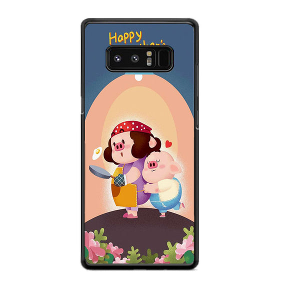 Piggy Happy Mother Das Samsung Galaxy Note 8 Case | Frostedcase