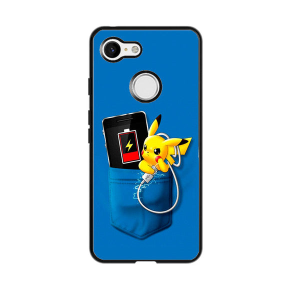 Pikachu Charger In The Pocket Google Pixel 3 Case | Frostedcase