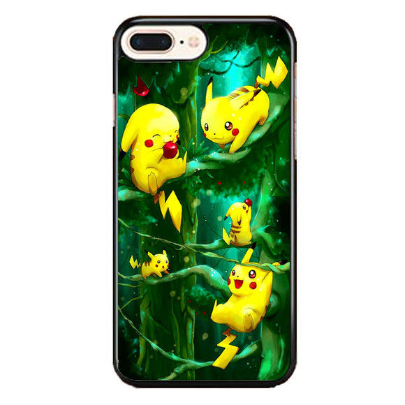 Pikachu Collection In The Forest iPhone 8 Plus Case | Frostedcase
