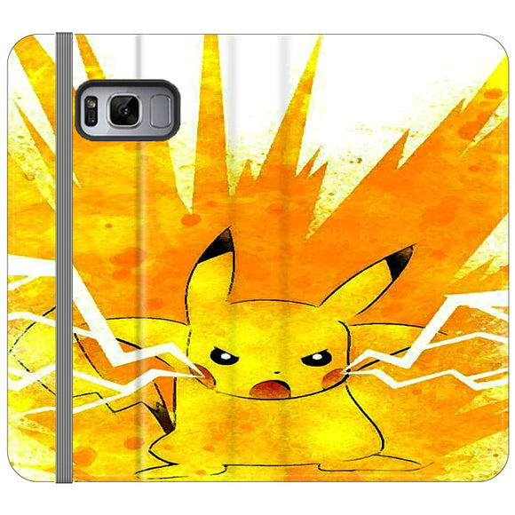 Pikachu Storm Drawing Samsung Galaxy S8 Plus Flip Case | Frostedcase