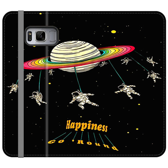 Planet Happiness Go Round Samsung Galaxy S8 Flip Case | Frostedcase