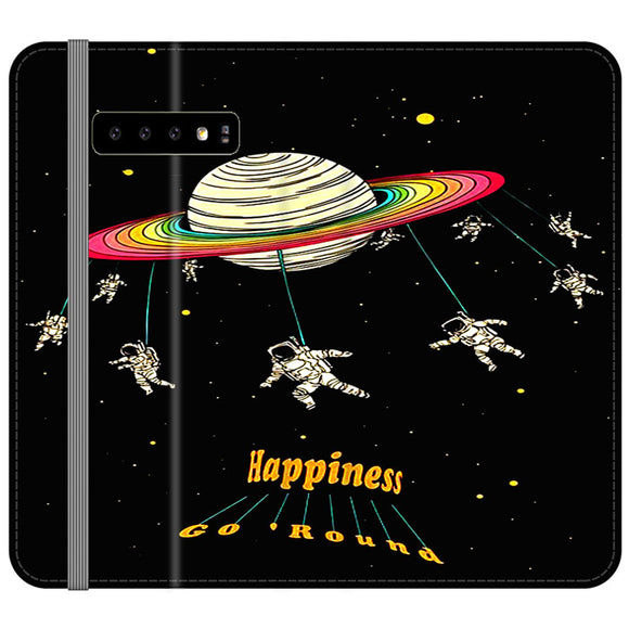 Planet Happiness Go Round Samsung Galaxy S10 Flip Case | Frostedcase