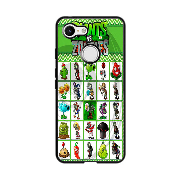 Plants Vs Zombies Character Board Google Pixel 3 Case | Frostedcase