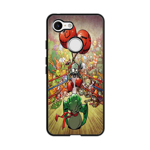 Plants Vs Zombies In Boxing Ring Google Pixel 3 Case | Frostedcase