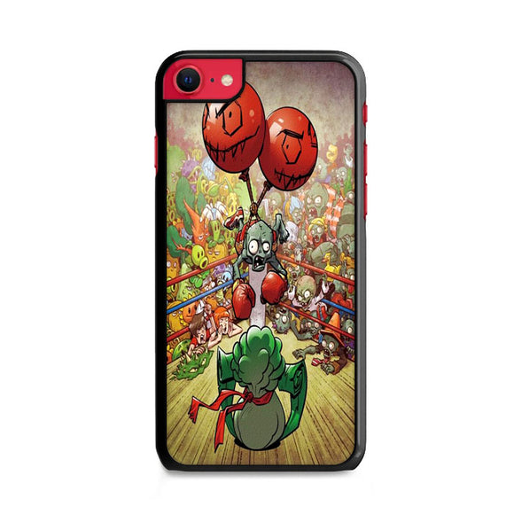 Plants Vs Zombies In Boxing Ring iPhone SE Case | Frostedcase