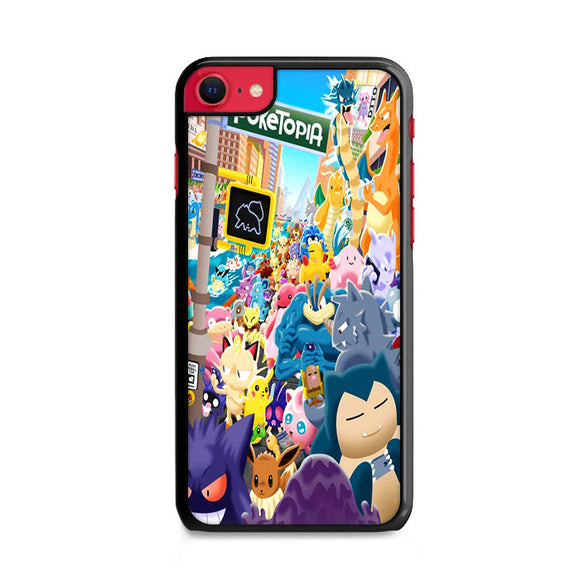 Pokemon All Character In The City iPhone SE Case | Frostedcase