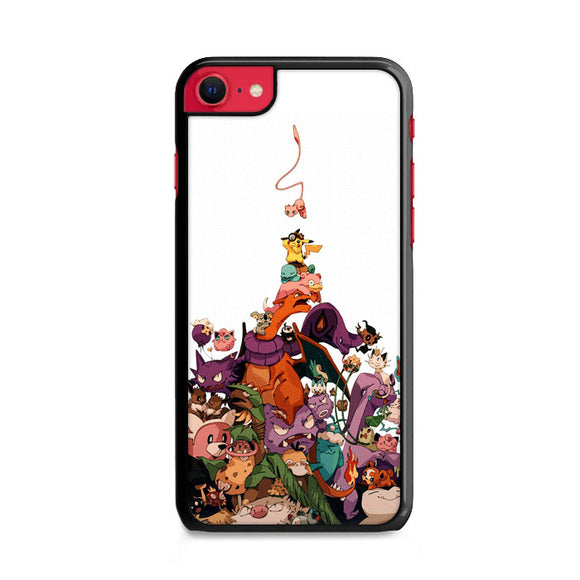 Pokemon Doodle All Characters And Elements iPhone SE Case | Frostedcase