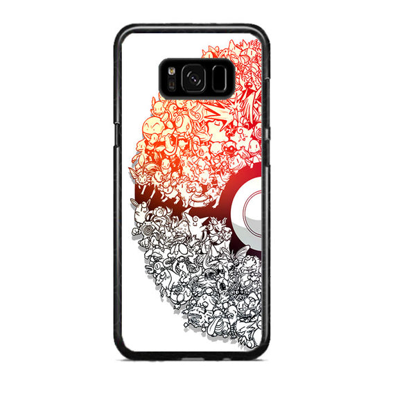 Pokemon Doodle Ball Samsung Galaxy S8 Plus Case | Frostedcase