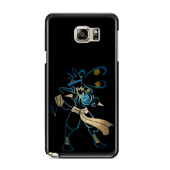 Pokemon Lucario Night Silhouette Samsung Galaxy Note 5 Case | Frostedcase