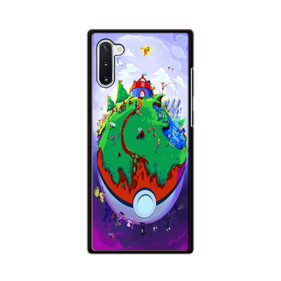 Pokemon Poster Earth Pokeballs Samsung Galaxy Note 10 Case | Frostedcase