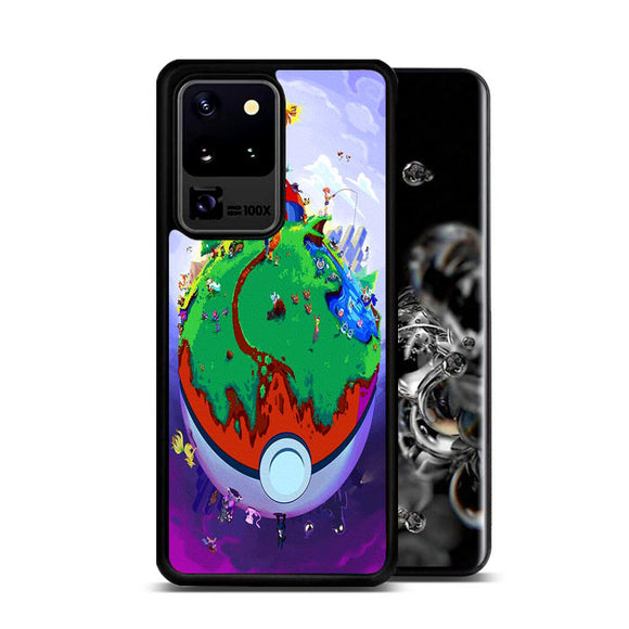 Pokemon Poster Earth Pokeballs Samsung Galaxy S20 Ultra Case | Frostedcase
