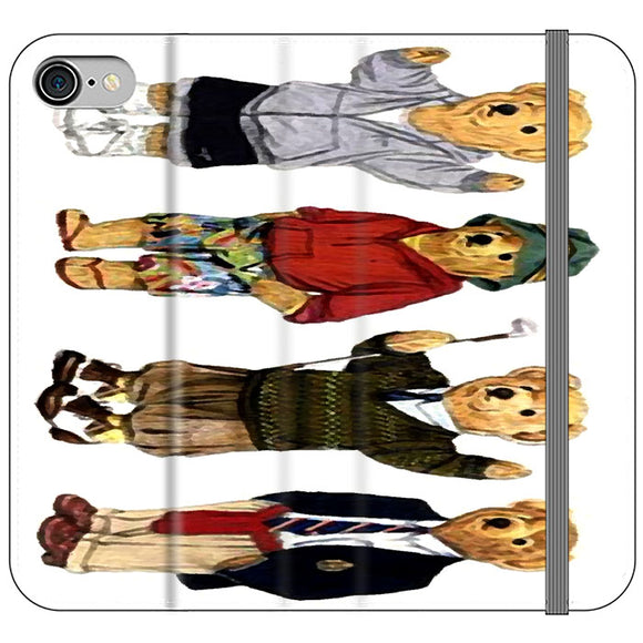 Polo Bear Collection School iPhone 8 Flip Case | Frostedcase