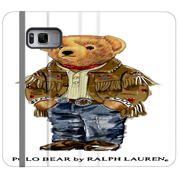 Polo Bear Indian Costume Samsung Galaxy S8 Flip Case | Frostedcase