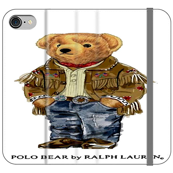 Polo Bear Indian Costume iPhone 8 Flip Case | Frostedcase