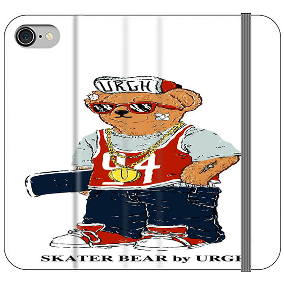Polo Sskater Bear Urgh 04 iPhone 8 Flip Case | Frostedcase