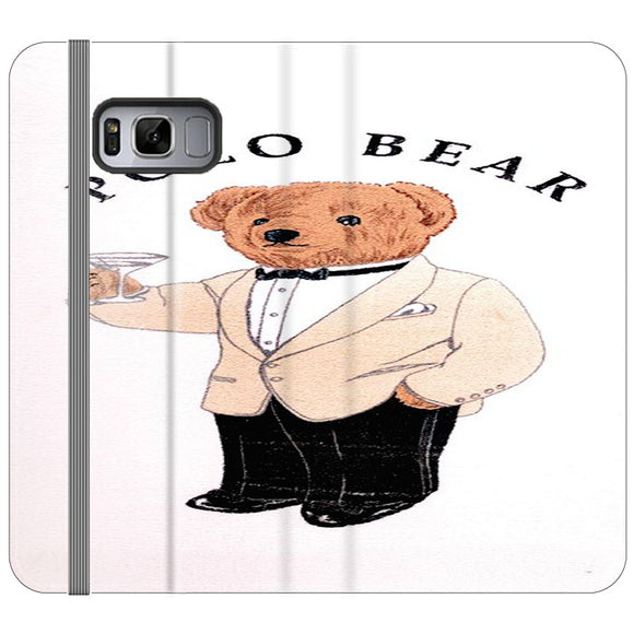 Polo Bear White Suit Samsung Galaxy S8 Flip Case | Frostedcase