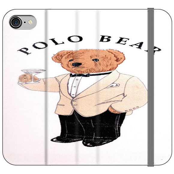 Polo Bear White Suit iPhone 8 Flip Case | Frostedcase