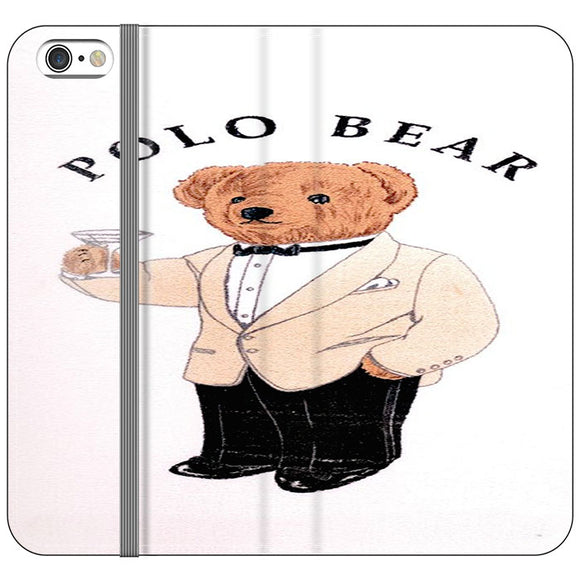 Polo Bear White Suit iPhone 6 Plus|6S Plus Flip Case | Frostedcase