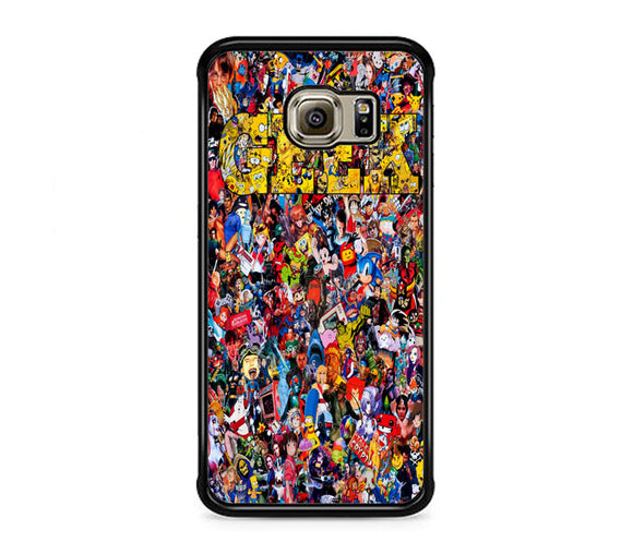 Pop Art Culture Collage 2017 Geek Samsung Galaxy S6 EDGE Case | Frostedcase