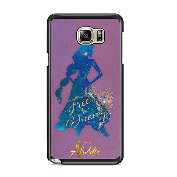 Princess Jasmine Aladdin Silhouette Samsung Galaxy Note 5 Case | Frostedcase