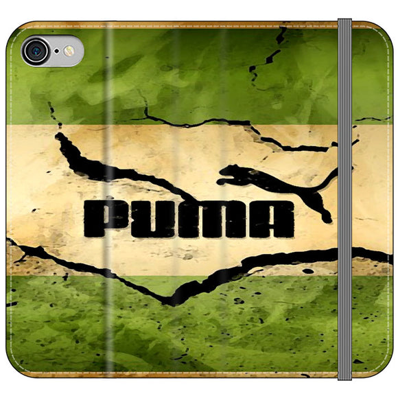 Puma Mural Vintage iPhone 8 Flip Case | Frostedcase