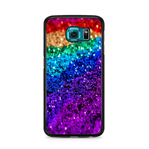 Rainbow Glitter Poster Samsung Galaxy S6 Case | Frostedcase