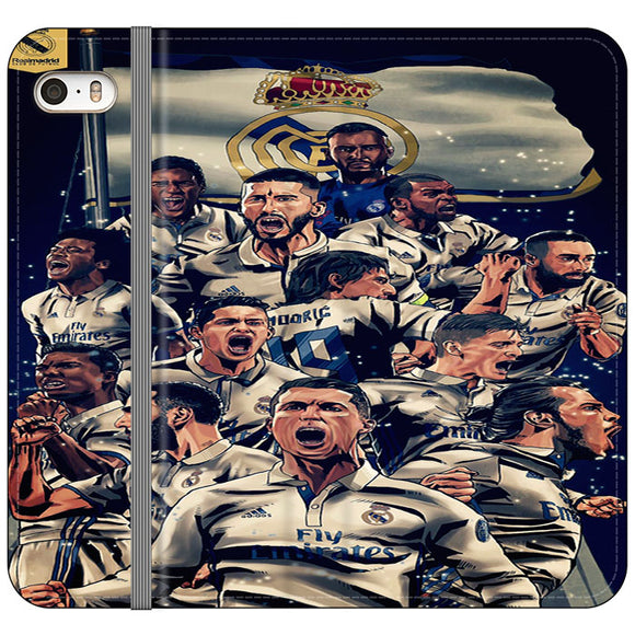 Realmadrid Art iPhone 5|5S|SE Flip Case | Frostedcase