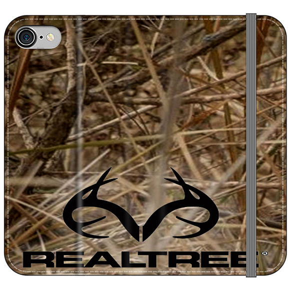 Realtree Camouflage Fabric iPhone 8 Flip Case | Frostedcase