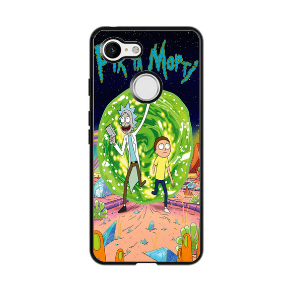 Rick & Morty Contains Google Pixel 3 Case | Frostedcase