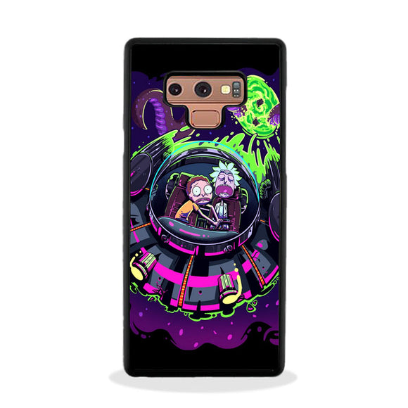 Rick And Morty Alien Flying Saucer Purple Samsung Galaxy Note 9 Case | Frostedcase