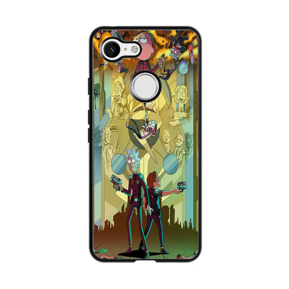 Rick And Morty Mix Up Art Poster Google Pixel 3 XL Case | Frostedcase