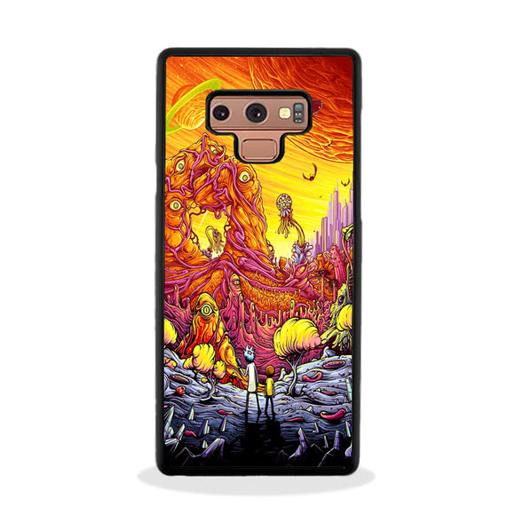 Rick And Morty World Full Colour Samsung Galaxy Note 9 Case | Frostedcase