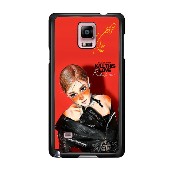 Rose Blackpink Vector Samsung Galaxy Note 4 Case | Frostedcase