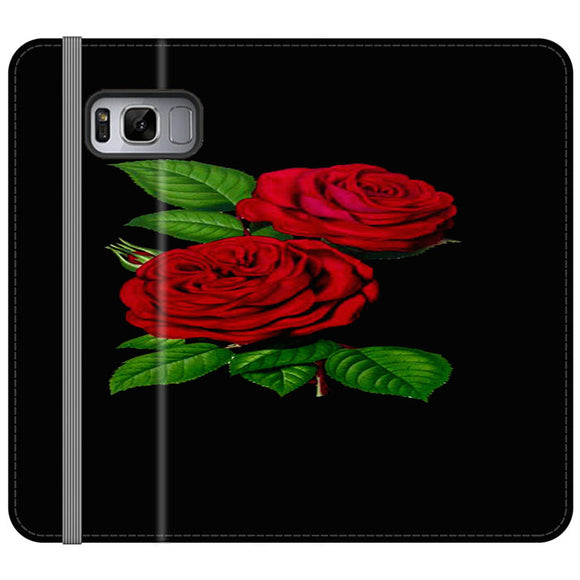 Roses Red Samsung Galaxy S8 Flip Case | Frostedcase