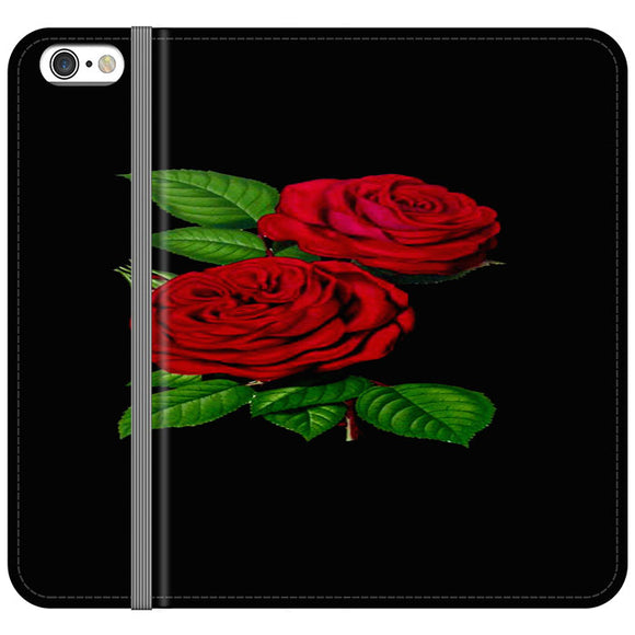 Roses Red iPhone 6 Plus|6S Plus Flip Case | Frostedcase