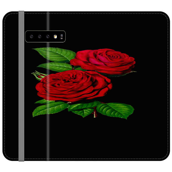 Roses Red Samsung Galaxy S10 Flip Case | Frostedcase