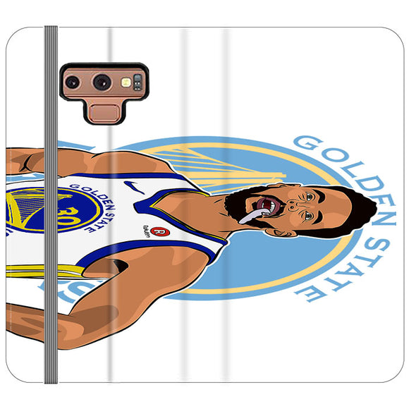 Stephen Curry Warriors Illustration Samsung Galaxy Note 9 Flip Case | Frostedcase
