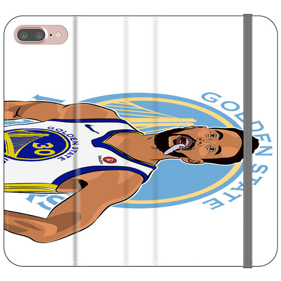 Stephen Curry Warriors Illustration iPhone 8 Plus Flip Case | Frostedcase